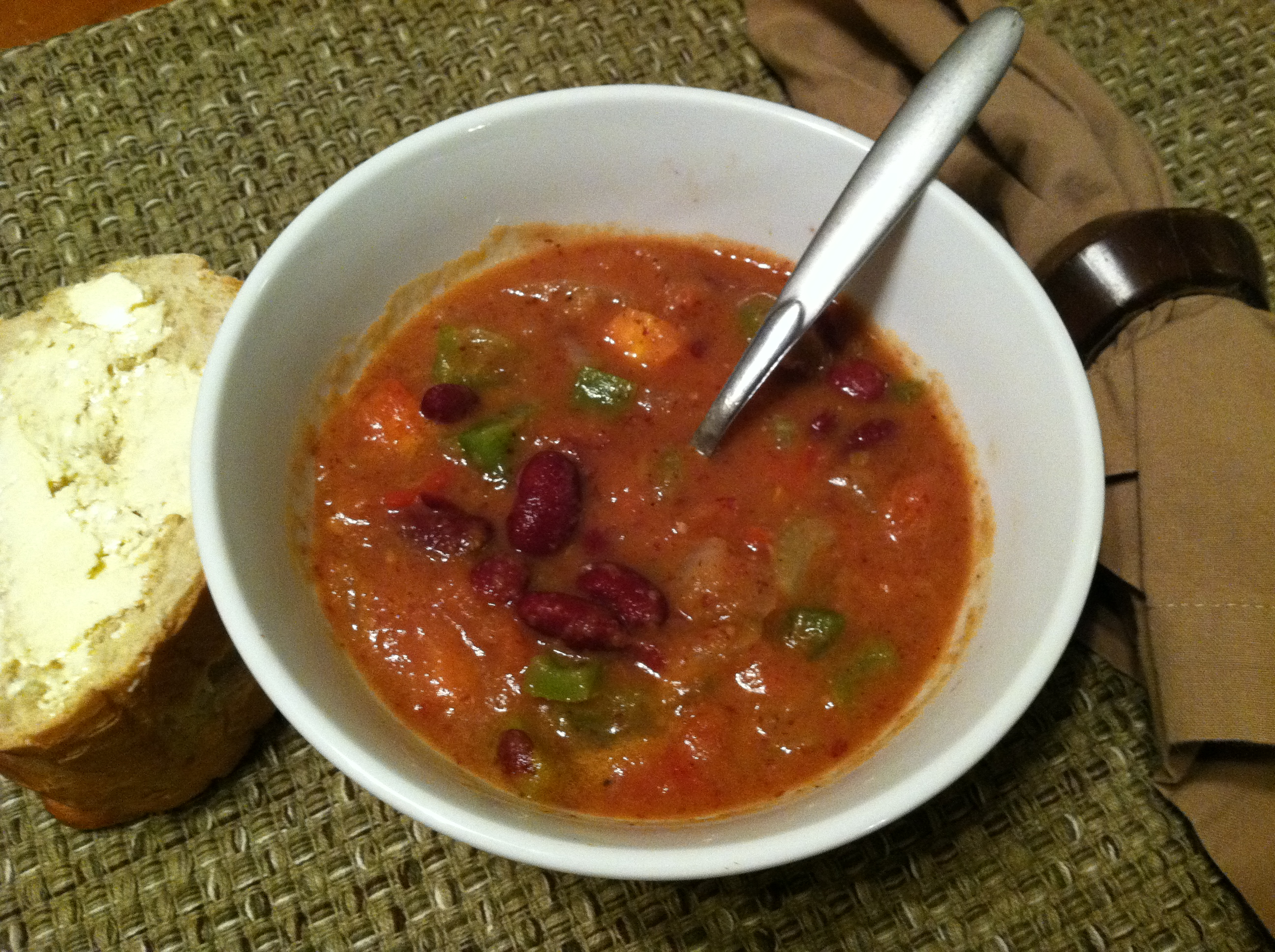 Spicy Cajun Red Bean Soup | Mile High Healthy